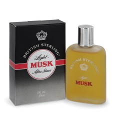 British Sterling Light Musk By Dana After Shave 2 Oz..