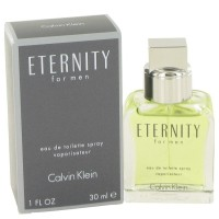 Eternity by Calvin Klein Eau de Toilette Spray 1 oz..