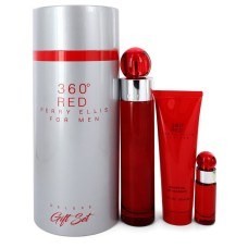 Perry Ellis 360 Red By Perry Ellis Gift Set - 3.4 oz Eau de Toilette S..