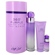 Perry Ellis 360 Purple By Perry Ellis Gift Set - 3.4 Oz Eau De Parfum ..